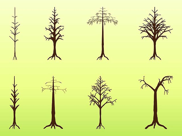 Dead Trees Silhouettes Vectors fresh best free vector packs kits