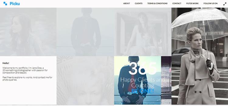 Picku html css Responsive template web-design free