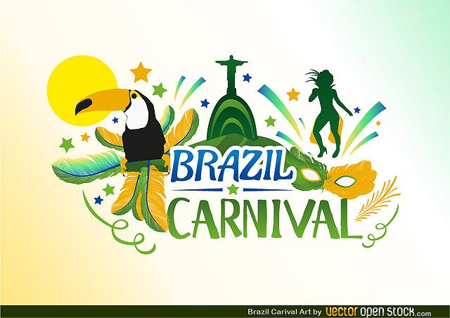 Brazil Carnival fresh best free vector packs kits