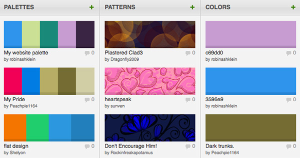 Color Lovers - Colors Palettes