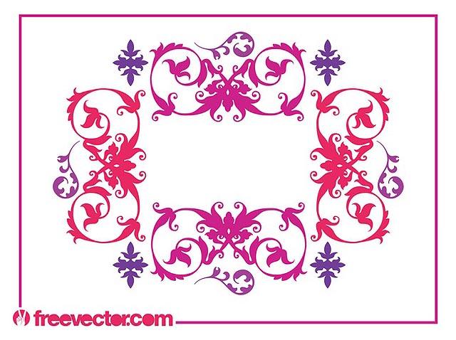 Vintage Swirling Flowersfresh best free vector packs kits