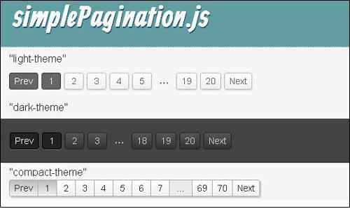 simplePagination js free pagination plugins