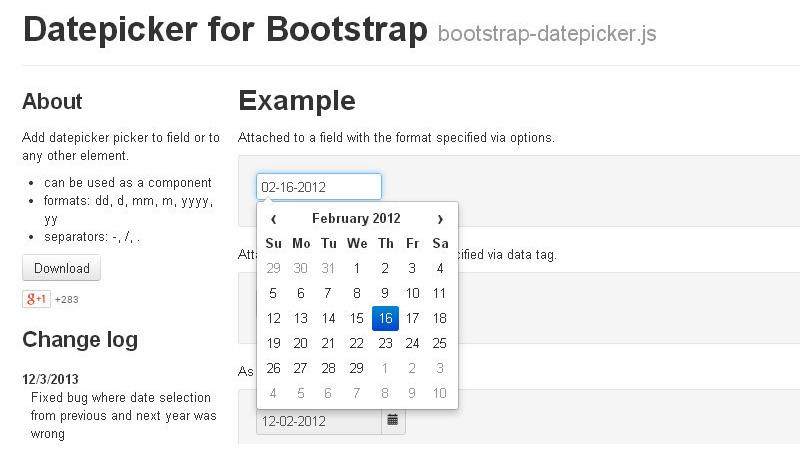 Bootstrap-Datepicker