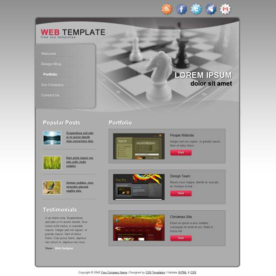 Free HTML5 & CSS3 Templates