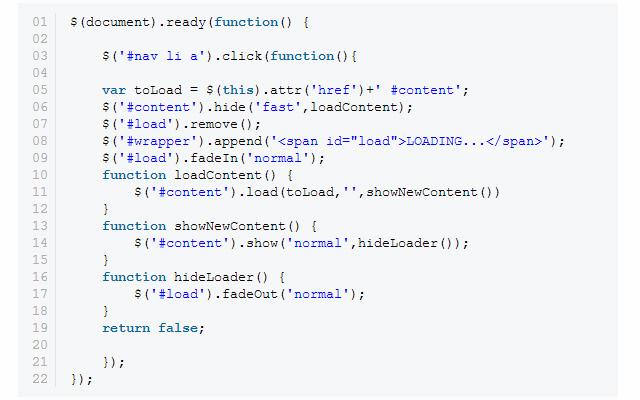 animate content jquery coding design