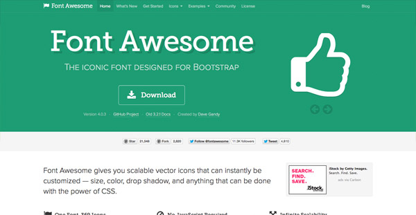 Font Awesome (369 icons)