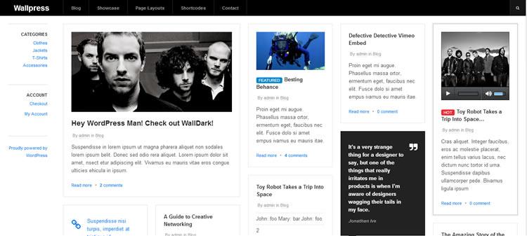 Grid-based magazine new  responsive free WordPress themes Wallpress