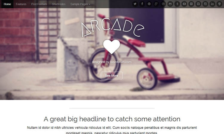 Business new  responsive free WordPress themes Arcade
