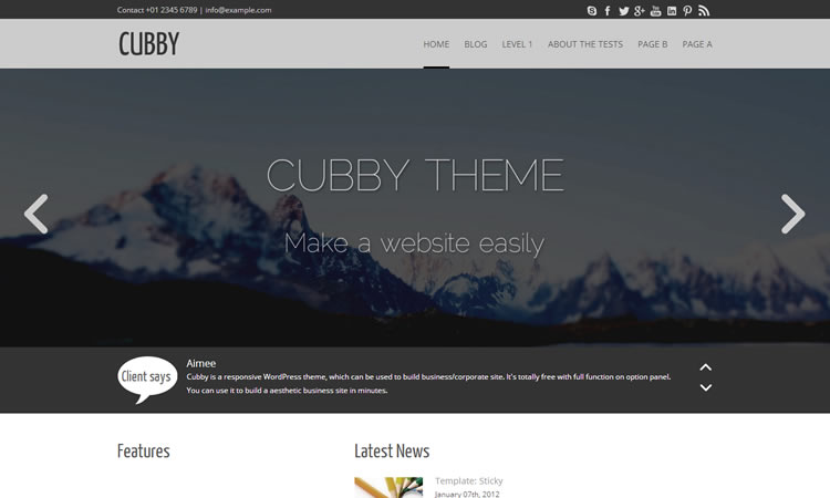Business new free responsive WordPress themes Cubby