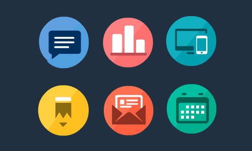 10 Sets Of Vector Flat Psd Icons Free Download Idevie