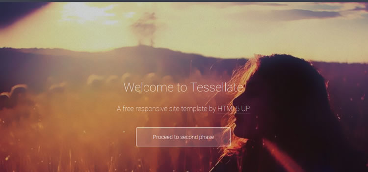 Tessellate css responsive HTML templates web-design free