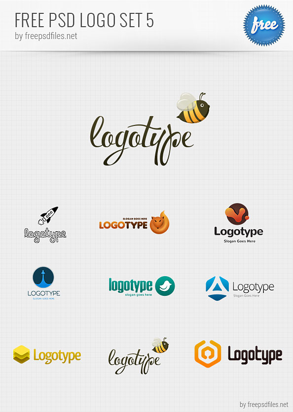 Free PSD Logo Design Templates Pack 5