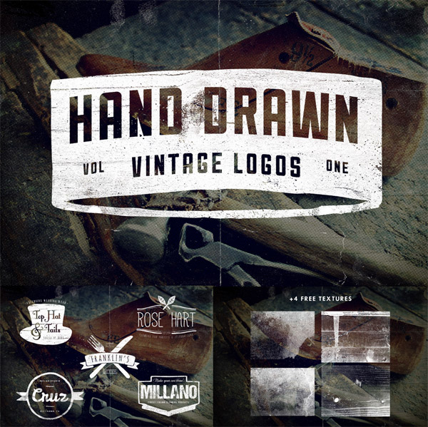 Hand Drawn Vintage Logos from Vintage Design Company