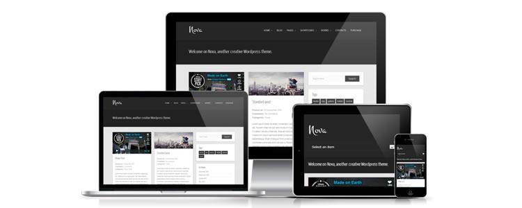 freebies designers web Nova WordPress Theme Tumblog-style