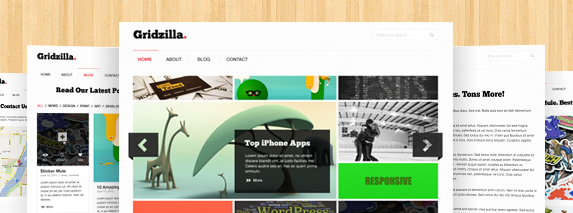Gridzilla free website photoshop template