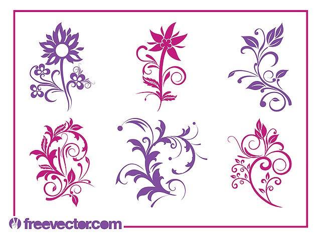 Blooming Flower Pack Silhouettes fresh best free vector packs kits