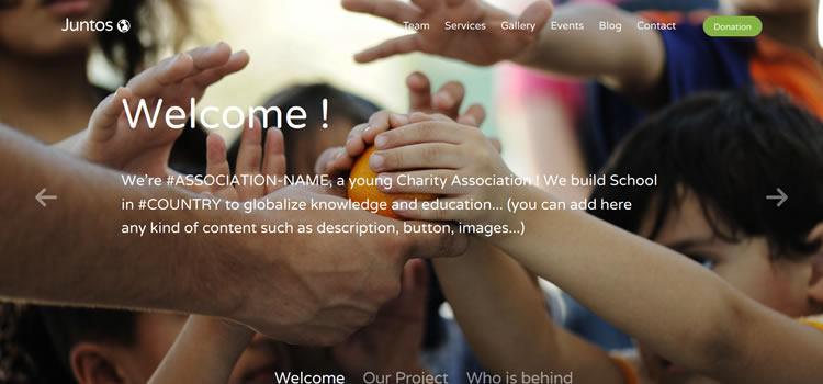 Juntos html css Responsive template web-design free