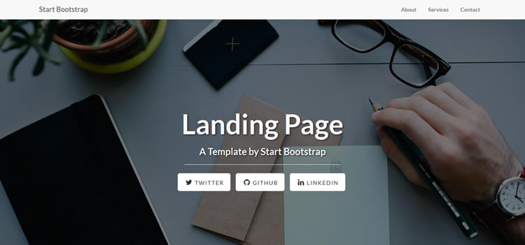 Landing Page html css Responsive template web-design free