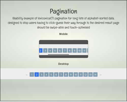 Usable Long-list Pagination