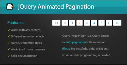 jQuery Animated Pagination