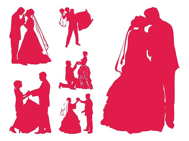 Married Couples Silhouettes fresh best free vector packs kits
