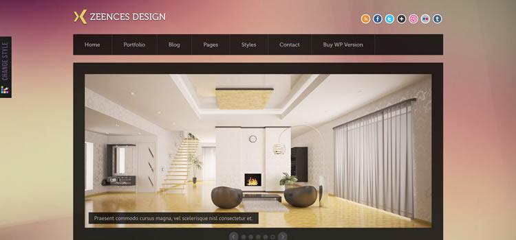 Zeences css responsive HTML templates web-design free