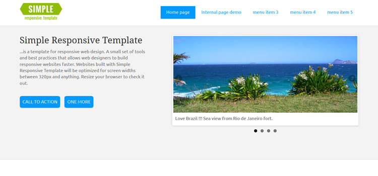 Simple css responsive HTML templates web-design free