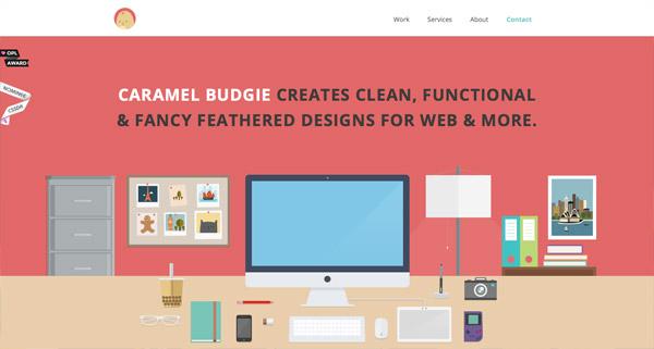 Caramel Budgie Design