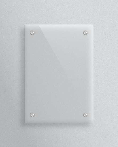 Create a Realistic Plexiglas® Plate Vector