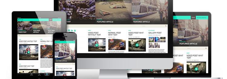 Fullby WordPress Theme freebies designers Grid-based
