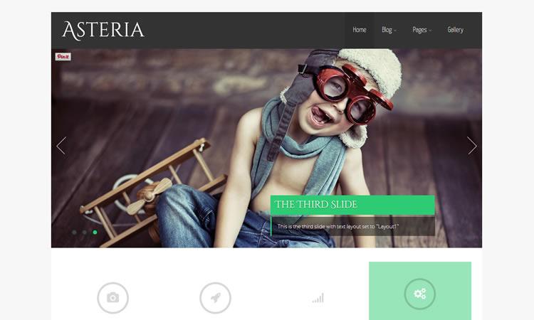 Multi-purpose new free responsive WordPress themes Asteria Lite