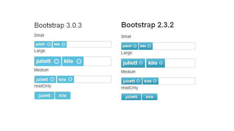 Bootstrap Tags