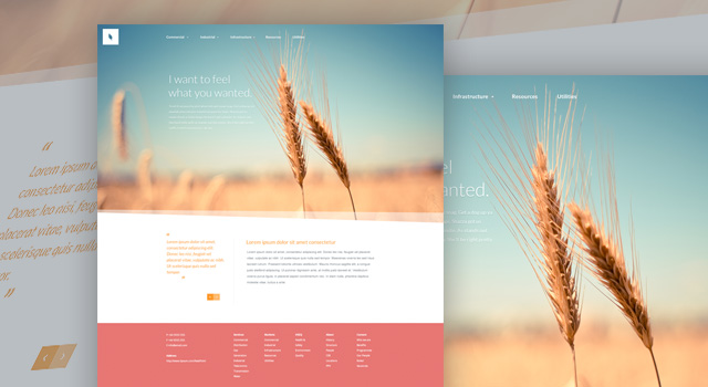 Organic free high quality website photoshop templates