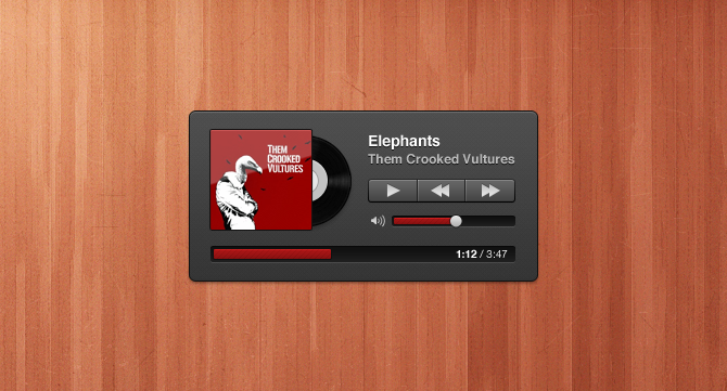 Cute Music Player Pixel Perfect Photoshop