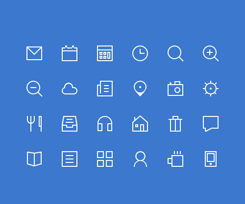 Thin Vector Icons