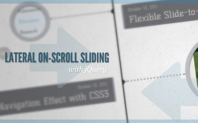 lateral scroll sliding effect jquery tutorial