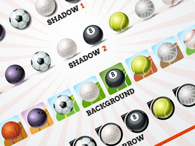Sport Ball Icons Pixel Perfect Photoshop Freebie