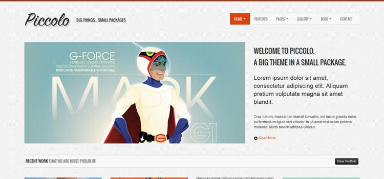 Piccolo css responsive HTML templates web-design free