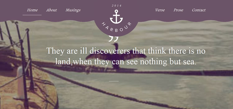 Harbour css responsive HTML templates web-design free