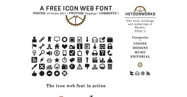 A Free Icon Web Font (60+ icons)