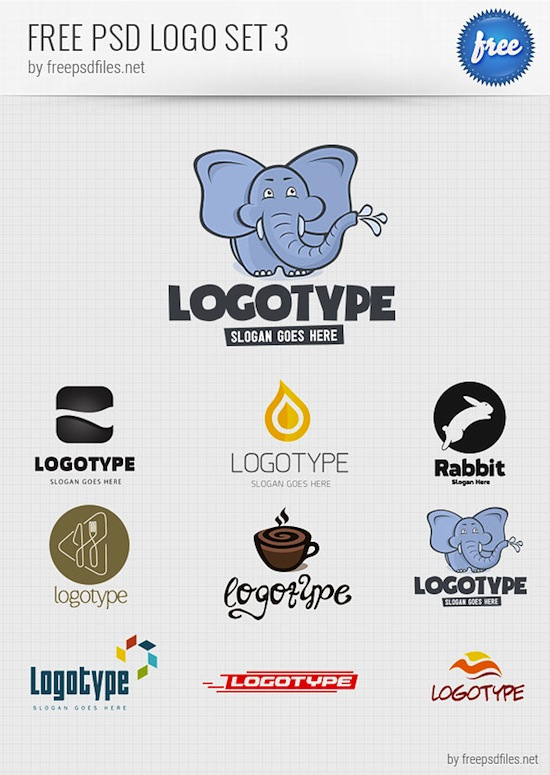 PSD Logo Design Templates Pack 3