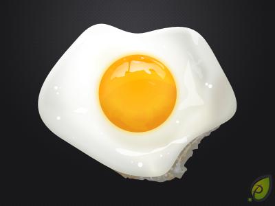 Fried egg Pixel Perfect Photoshop Freebie