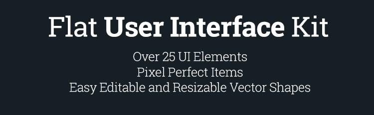 Freebie: Flat User Interface Kit (Vector PSD)