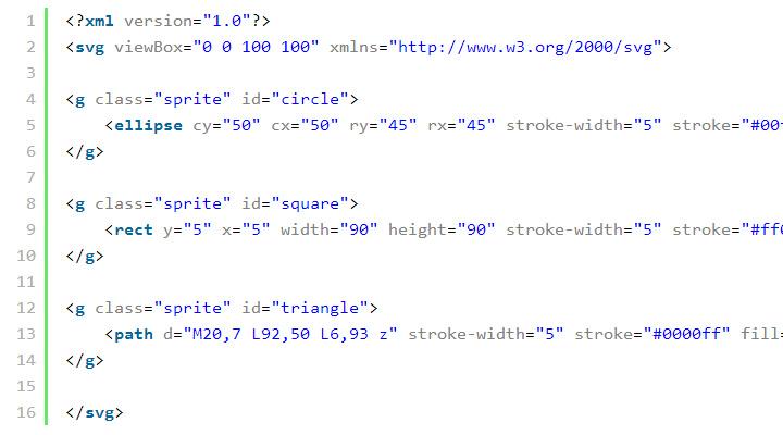 using svg image sprites web design tutorial