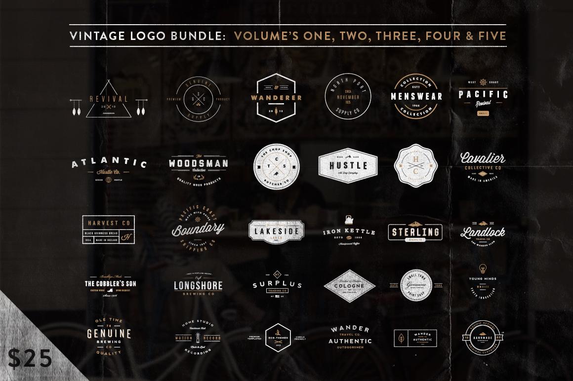 bundle2 o1 13 Vintage Logo Bundles for Your Designs