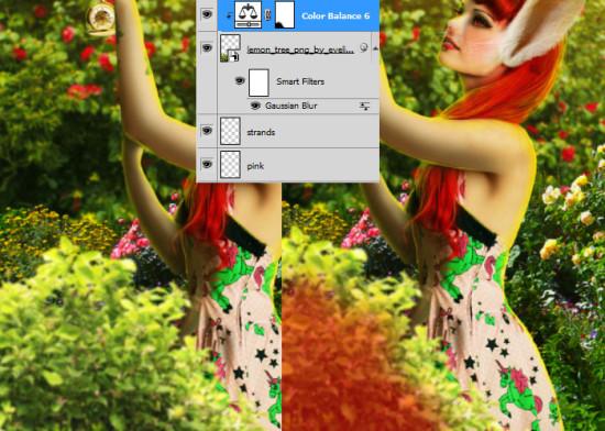 photo manip alice in wonderland 65 550x392 Create Photo Manipulation with Alice in Wonderland Theme in Photoshop