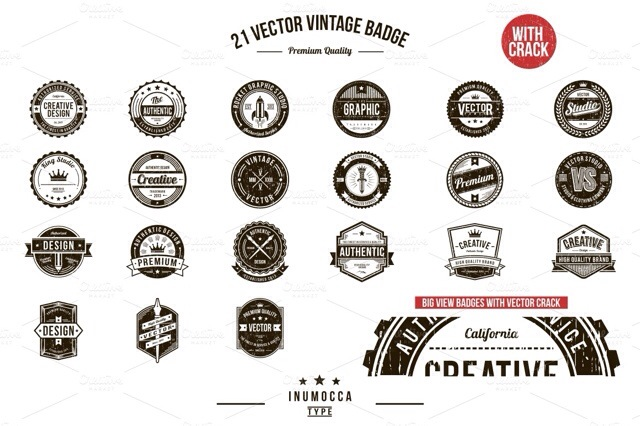 13 Vintage Logo Bundles for Your Designs
