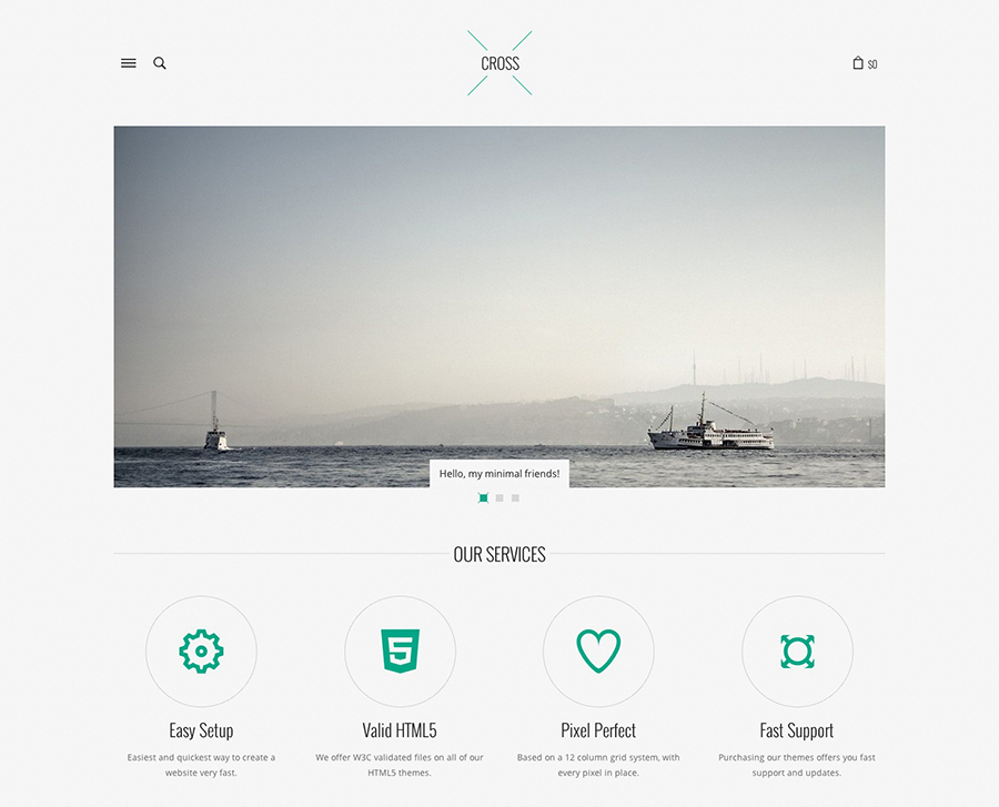 A Collection Of Simplistic & Minimal WordPress Themes