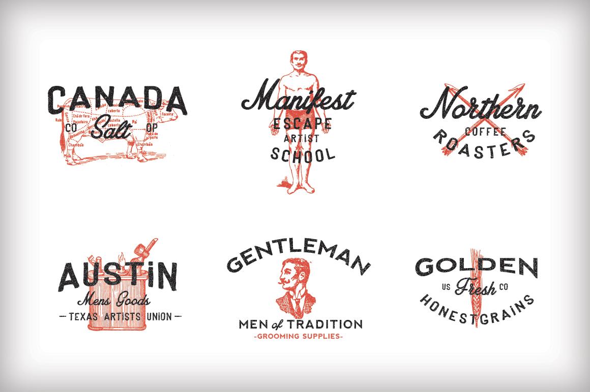 example 1 o1 13 Vintage Logo Bundles for Your Designs
