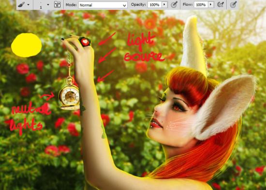 photo manip alice in wonderland 61 550x392 Create Photo Manipulation with Alice in Wonderland Theme in Photoshop